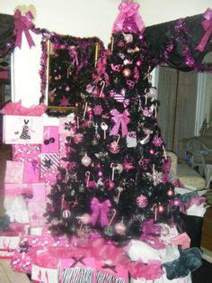 pink black christmas on pinterest