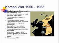 Korean War Timeline 1950 1953 1