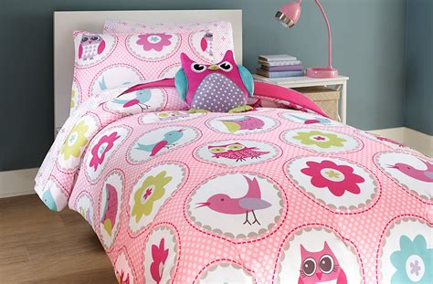 owl twin comforter set crb 2 pc owl twin comforter set pink home bed bath
