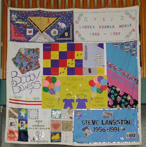 Names Project Aids Memorial Quilt by Reading Gardner 1114 1116 1129 1137 1102 1103 1084 1085