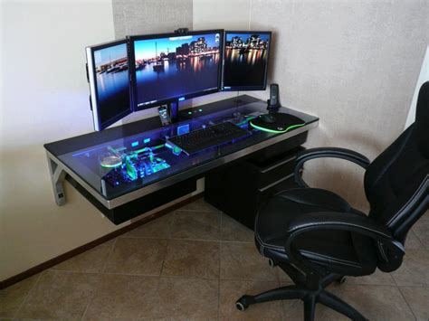 pc setup ideas how to choose the right gaming computer desk minimalist