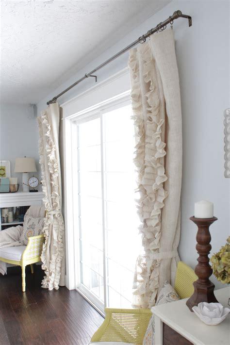 diy no sew tie up curtains curtain menzilperde net diy ruffled burlap curtains curtain menzilperde net