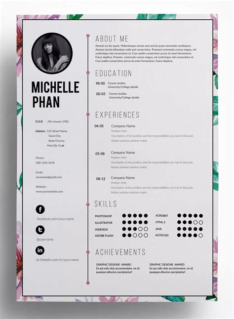 Resume About Me Creative 1207 best infographic visual resumes images on