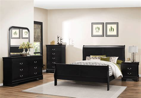 black bedroom sets for less overstock com caroline black queen bedroom set lexington overstock