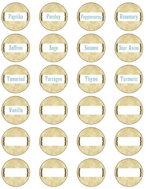free printable small jar labels spice jar labels by ink tree press worldlabel blog