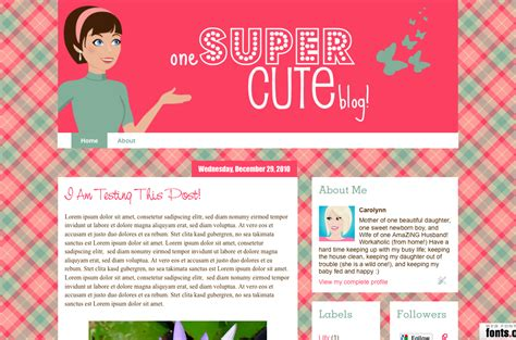 blog layout kawaii makin cute blogs