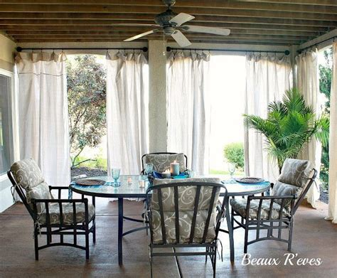 inexpensive patio curtain ideas inexpensive outdoor curtains using curtain rods out of