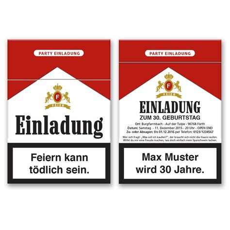 Aufkleber Drucken Lassen Göttingen by Einladungskarten Als Zigarettenschachtel Bestellen