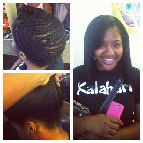 Pull Up Sew In Braiding Pattern | pull up sew in by dollemupnia flawless undetectable