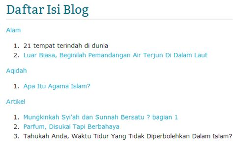 membuat daftar isi blog otomatis cara membuat widget daftar isi blog otomatis devisologi