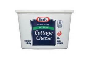 kraft cottage cheese kraft small curd free cottage cheese 16 oz tub