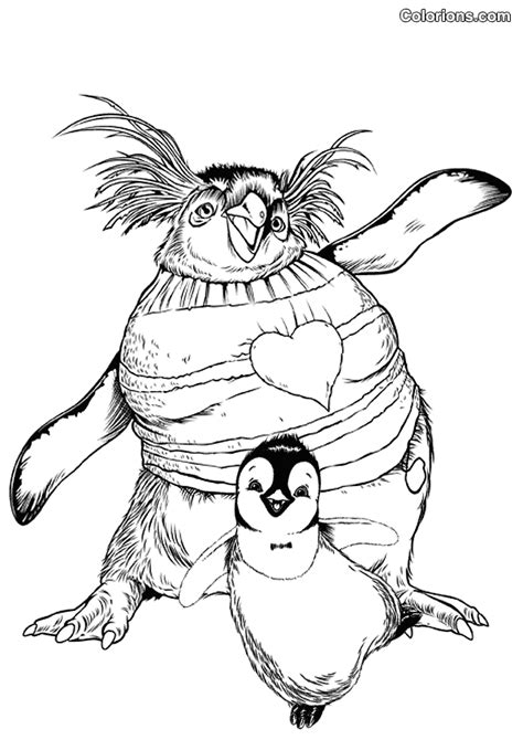 happy feet coloring pages printable coloring pages