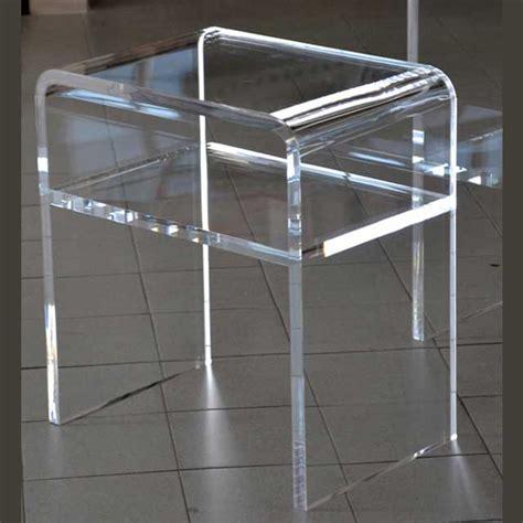comodino plexiglass comodino plexiglass termoformato con ripiano ludovic