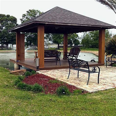 pavillon pergola cypress pavilions pergolas arbors acadiana patios