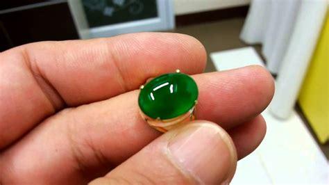 3 54ct imperial glassy green burma jadeite