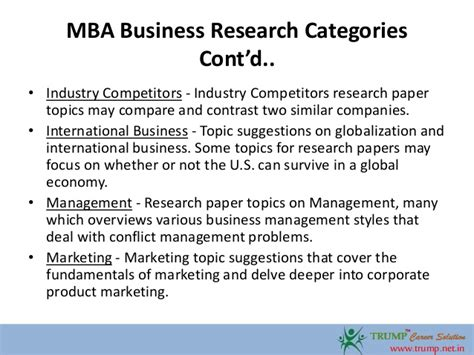 Hrm Thesis Topics For Mba by Mba Business Research Paper Topics