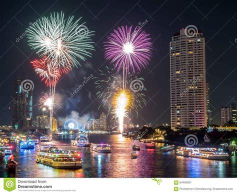 new year celebration bangkok new year countdown celebration fireworks in bangkok