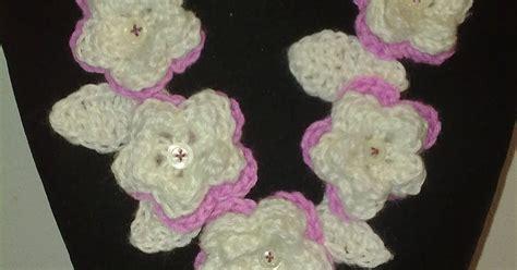 collana fiori uncinetto collane di con fiori a uncinetto