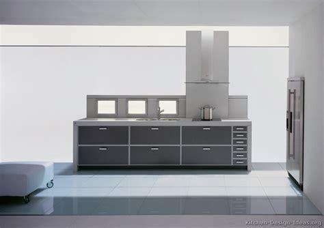 Charming Modern Gray Kitchen Cabinets #6: Kitchen-cabinets-modern-two-tone-201-A132a-aluminum-frame-dark-gray-white-light-panels.jpg