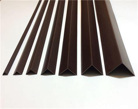 brown plastic pvc corner  degree angle trim