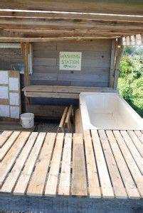 washing station  tub backyard greenhouse outdoor