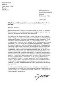 lettre de motivation auxiliaire de vie sociale d 233 butante