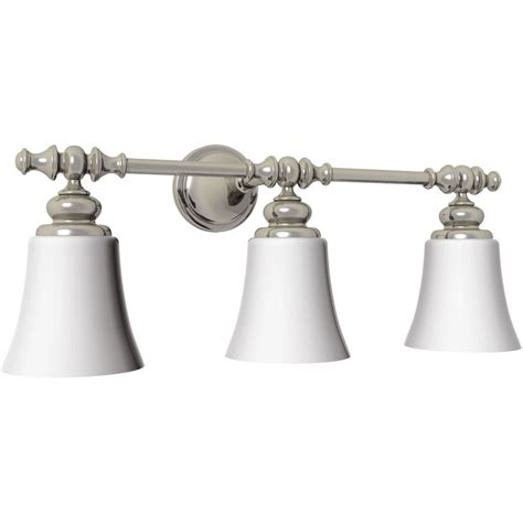 portfolio 3 light brushed nickel bathroom vanity light shop checkolite international portfolio 3 light benton