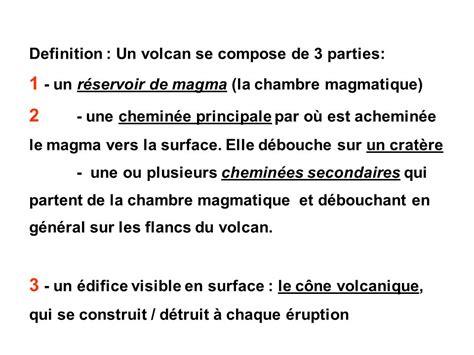 chambre magmatique d馭inition volcans et tectonique des plaques ppt