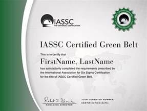 iassc lean six sigma green belt certification