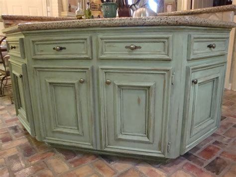 green kitchen islands distressed green kitchen island quicua
