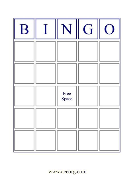 Bingo Card Template With Numbers by Blank Bingo Cards If You Want An Image Of A Standard