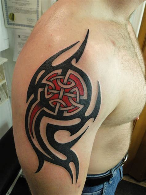 firefighter tribal tattoo on shoulder photo 6 real