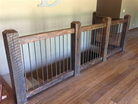 custom reclaimed stair railings by creek cabinetry