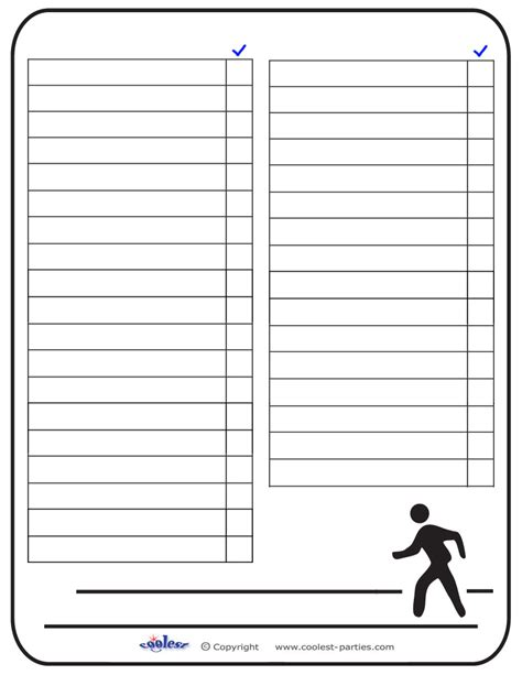scavenger hunt template blank printable around town scavenger hunt list coolest