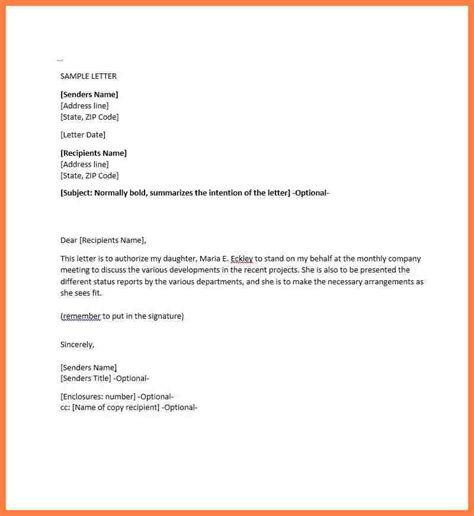 authorization letter writing format 9 company authorization letter sle company letterhead