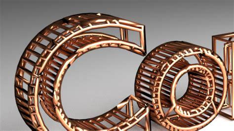 blender tutorial copper wire text