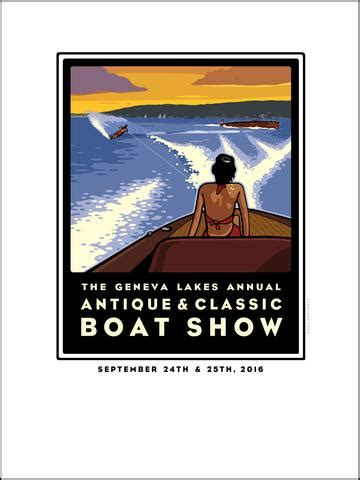 boat show geneva 2017 01a first four classic lake geneva boat show posters