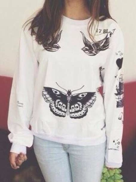 harry styles tattoo backpack shirt sweater jumper clothes tattoo white jumper bag