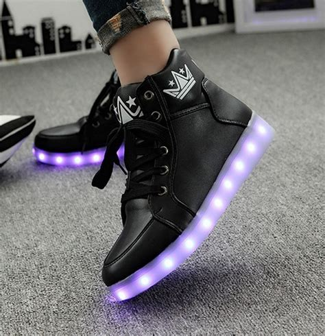 Preorder Led Light Up Shoes Low Top Importpremium High popular white high top sneakers buy cheap white high top