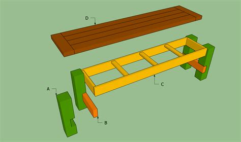 plans to build a bench diy wooden bench seat plans woodguides