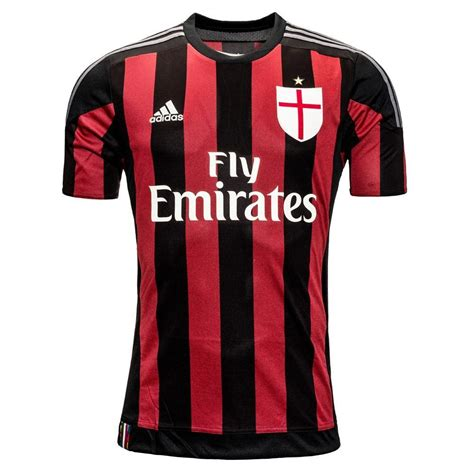 Jersey Milan 62 99 adidas ac milan home youth 2015 2016 replica soccer jersey black victory granite