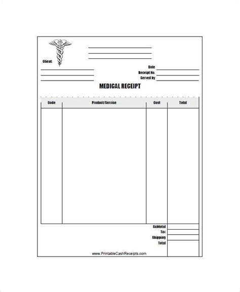 10 simple receipt template free sle exle format