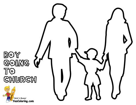 coloring page of family going to church going to church coloring pages coloring pages