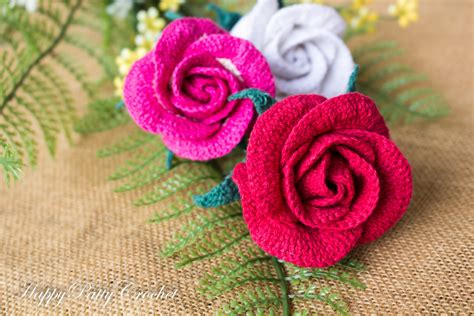 free crochet rose bag pattern crochet rose bud pattern by happy patty crochet