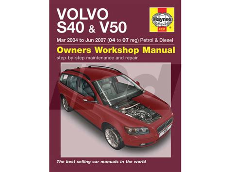 service manuals schematics 2010 volvo v50 user handbook volvo haynes manual for p1 s40 v50 115416 9781844257577 sv4757 9l4731