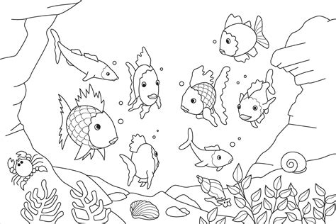 coloring book album tracklist rainbow fish template to color