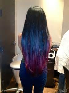 black hair with colored tips black hair with tips hairstyles