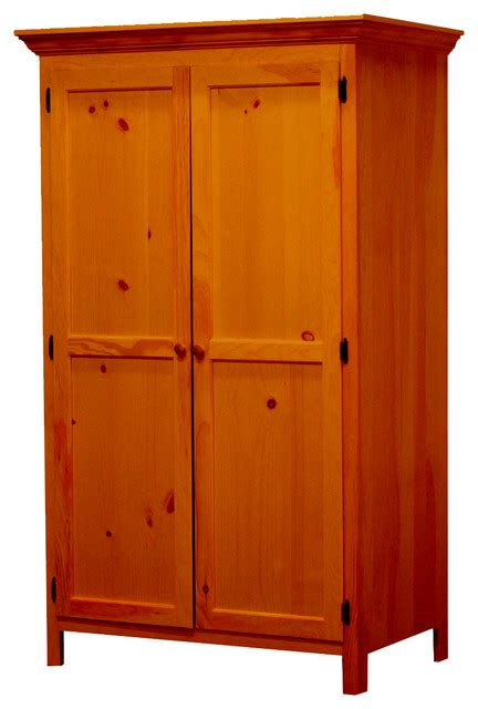 Maple Armoire Wardrobe Panel Door Wardrobe Colonial Maple Contemporary