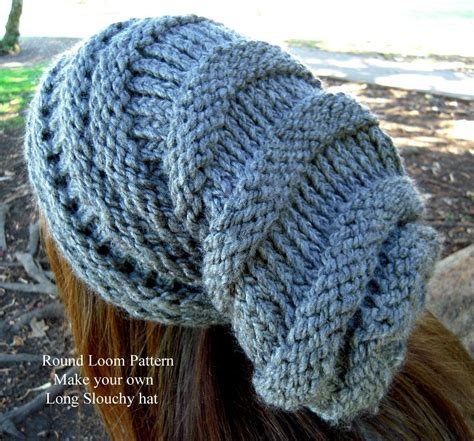knitting hat on loom loom knit slouchy hat patterns a knitting