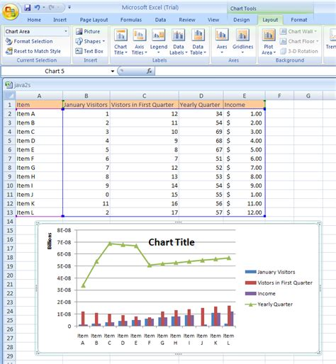 jsp layout exle chart excel title images how to guide and refrence